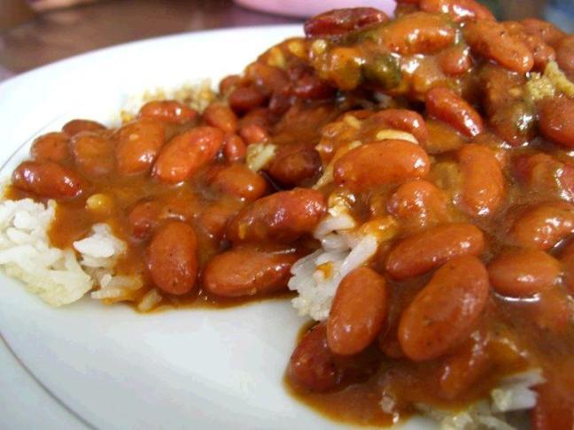 arroz y habichuelas rojas