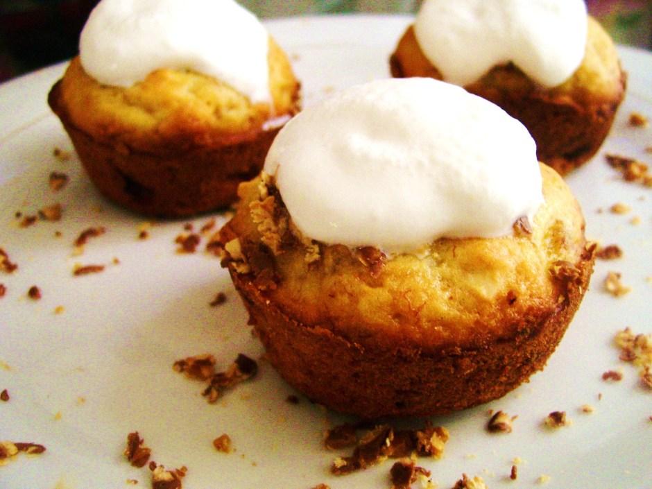 muffins de guineo y nueces