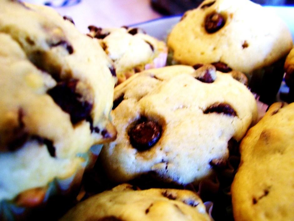 muffins de chispas de chocolate