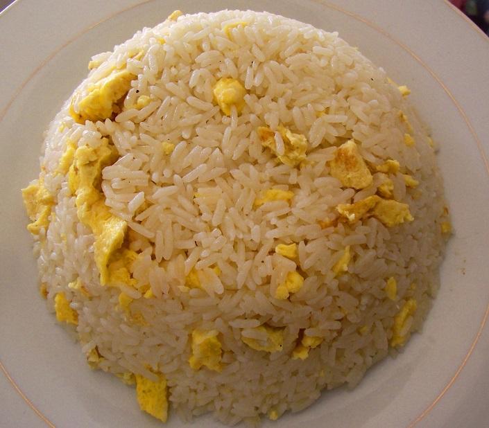 receta de arroz chino con huevo