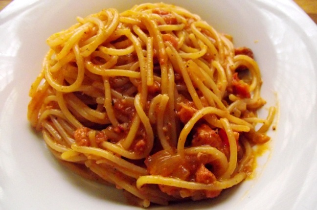 espaguetis a la criolla
