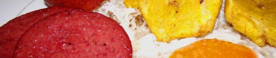Salami y longaniza desayunos dominicanos for Cocina dominicana