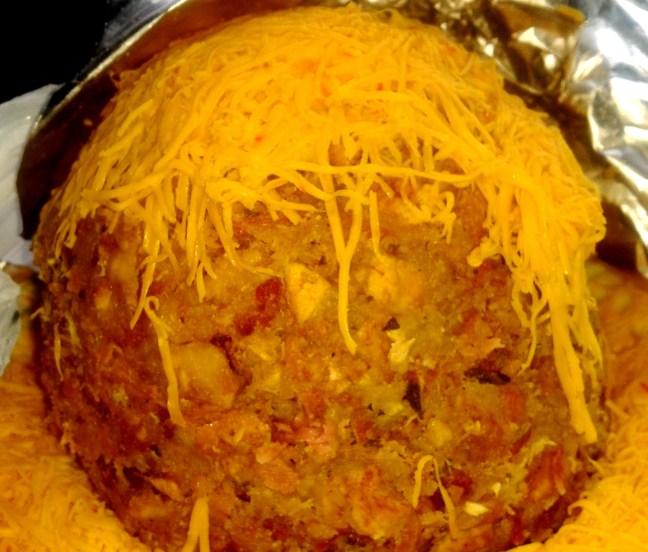 Mofongo de queso y chicharrón