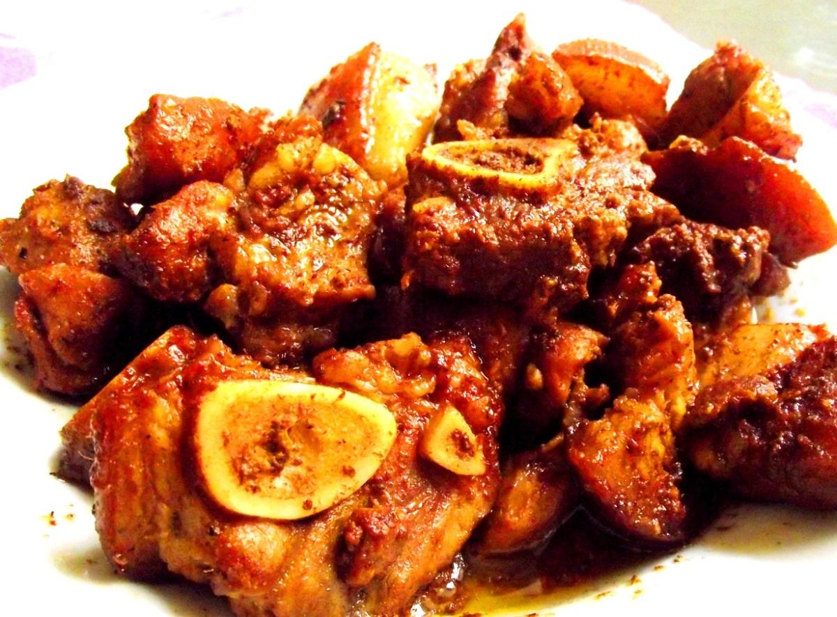 Cerdo guisado dominicano