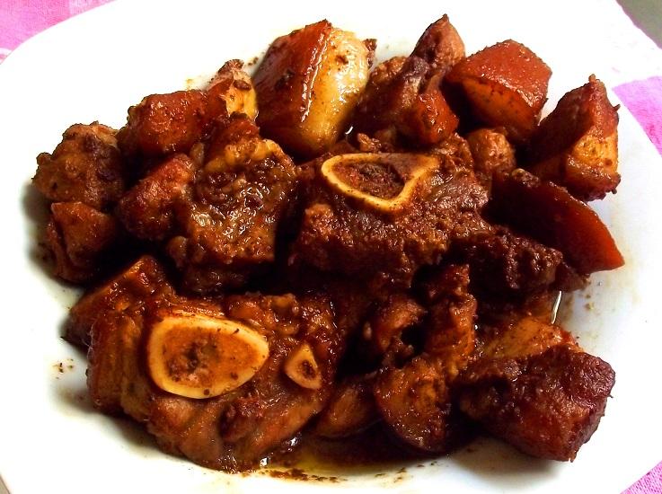 receta de cerdo guisado