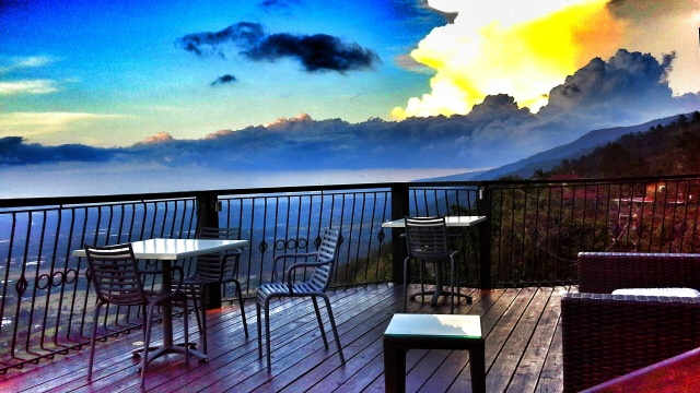 Anochecer en Aroma de la Montaña Restaurant