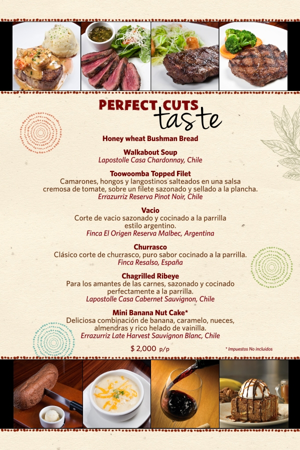 MENU PERFECT CUTS TASTE OUTBACK STEAKHOUSE