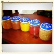 Las mermeladas que hemos preparado