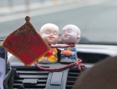 Los monies en el taxi