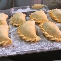 Empanadas en proceso
