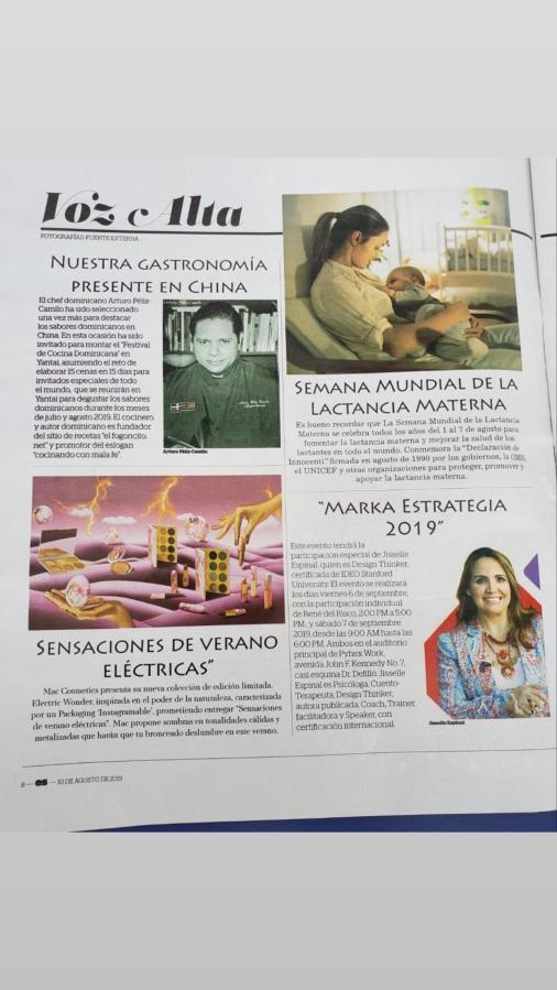 Revista en Sociedad Periodico Hoy. Arturo Feliz-Camilo