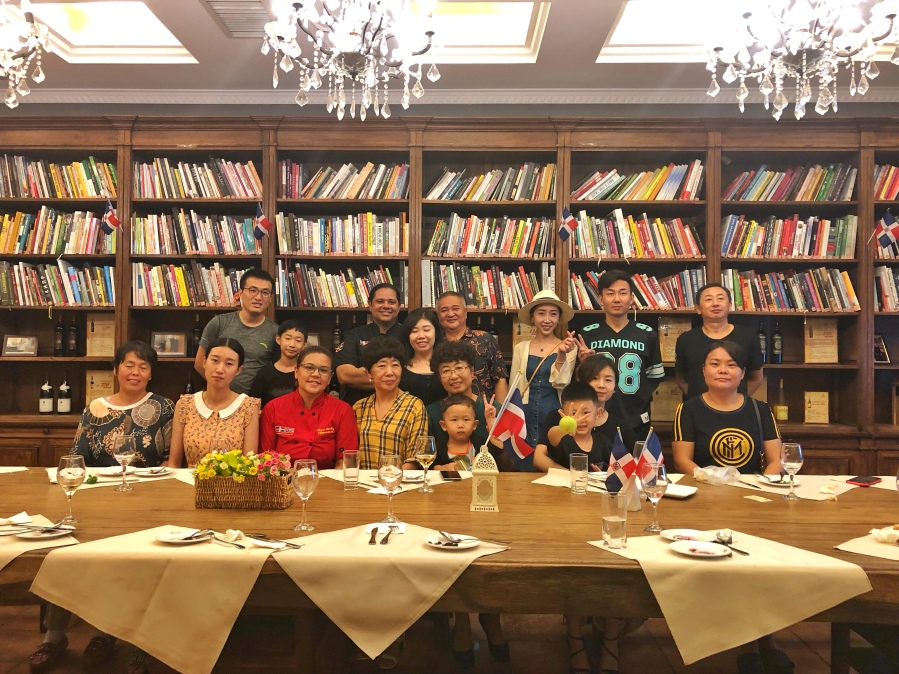 Decima cena Festival de la Cocina Dominicana en Yantai, China. 2019