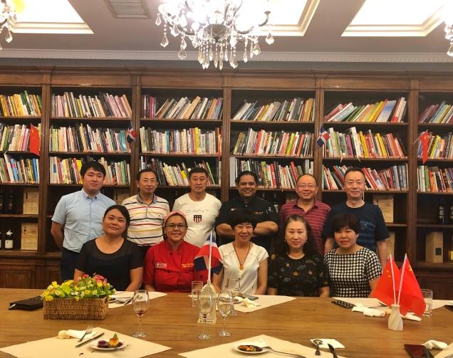 Décimo-séptima cena en el marco del Festival de La Cocina Dominicana en China (Yantai, 2019)
