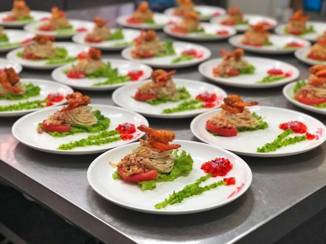Ensalada de camarones